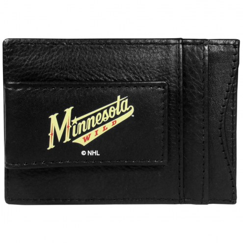 Minnesota Wild Logo Leather Cash and Cardholder
