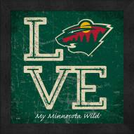 Minnesota Wild Love My Team Color Wall Decor