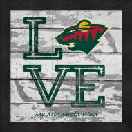 Minnesota Wild Love My Team Square Wall Decor