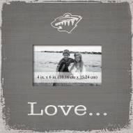 Minnesota Wild Love Picture Frame