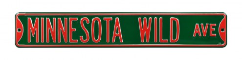 Minnesota Wild NHL Authentic Street Sign