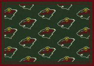 Minnesota Wild NHL Repeat Area Rug