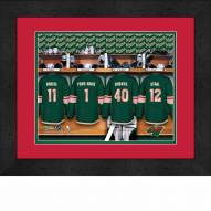 Minnesota Wild Personalized Locker Room 13 x 16 Framed Photograph