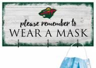 Minnesota Wild Please Wear Your Mask Sign