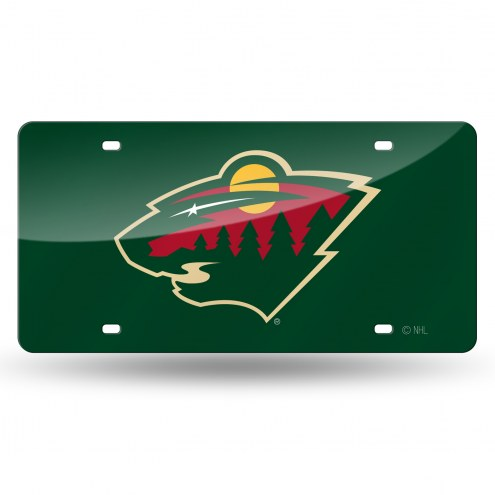 Minnesota Wild Laser Cut License Plate