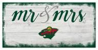 Minnesota Wild Script Mr. & Mrs. Sign
