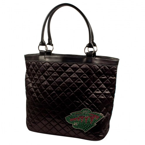 Minnesota Wild Sport Noir Quilted Tote