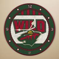 Minnesota Wild Stained Glass Wall Clock