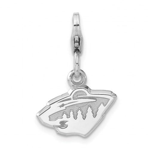Minnesota Wild Sterling Silver Charm