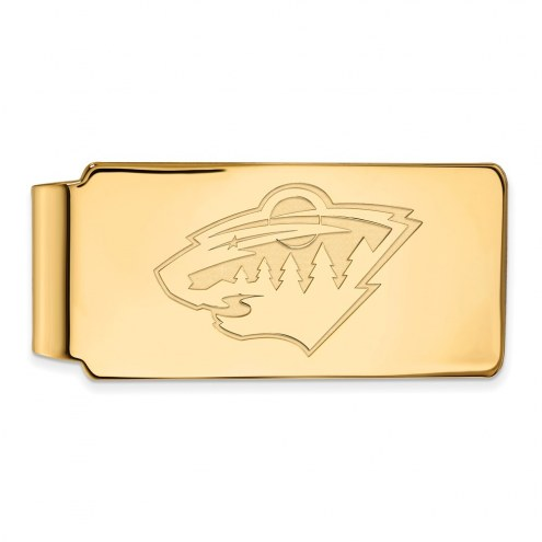 Minnesota Wild Sterling Silver Gold Plated Money Clip