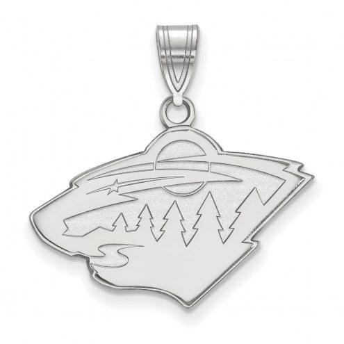 Minnesota Wild Sterling Silver Medium Pendant