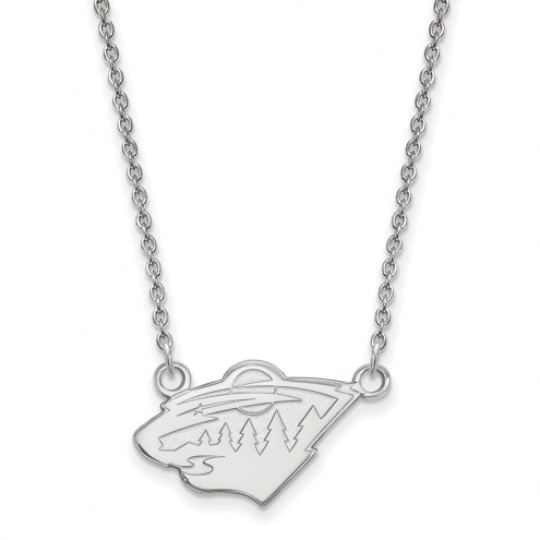 Minnesota Wild Sterling Silver Small Pendant Necklace