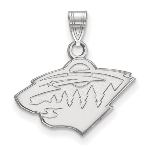 Minnesota Wild Sterling Silver Small Pendant