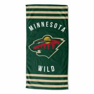 Minnesota Wild Stripes Beach Towel