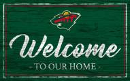 Minnesota Wild Team Color Welcome Sign