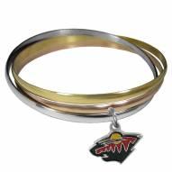 Minnesota Wild Tri-color Bangle Bracelet