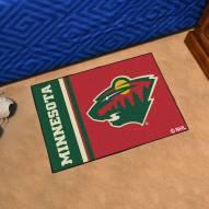 Minnesota Wild Uniform Inspired Starter Rug