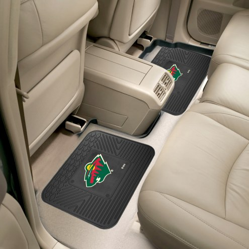 Minnesota Wild Vinyl 2-Piece Rear Floor Mats