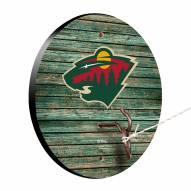 Minnesota Wild Weathered Design Hook & Ring Game