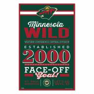 Minnesota Wild Established Wood Sign