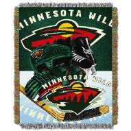 Minnesota Wild Woven Tapestry Throw Blanket