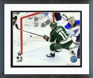 Minnesota Wild Zach Parise Playoff Action Framed Photo