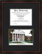 University of Mississippi Diplomate Framed Lithograph with Diploma Opening