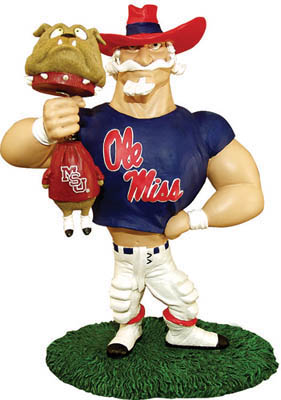 Mississippi Ole Miss Rebels Lester Single Choke Rivalry Figurine
