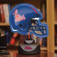 Mississippi Ole Miss Rebels Neon Helmet Desk Lamp