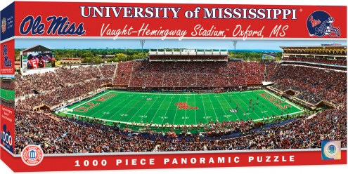 Mississippi Rebels 1000 Piece Panoramic Puzzle