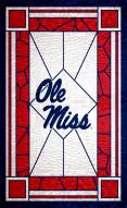 """Mississippi Rebels 11"""" x 19"""" Stained Glass Sign"""