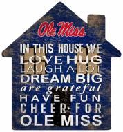 """Mississippi Rebels 12"""" House Sign"""