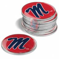 Mississippi Rebels 12-Pack Golf Ball Markers
