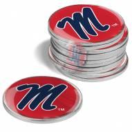 Mississippi Rebels 12-Pack Golf Ball Markers
