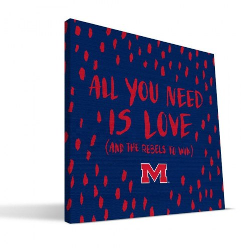 """Mississippi Rebels 12"""" x 12"""" All You Need Canvas Print"""