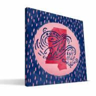 "Mississippi Rebels 12"" x 12"" Born a Fan Canvas Print"