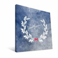 """Mississippi Rebels 12"""" x 12"""" Favorite Thing Canvas Print"""