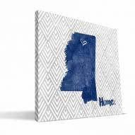 "Mississippi Rebels 12"" x 12"" Home Canvas Print"