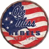 """Mississippi Rebels 16"""" Flag Barrel Top"""