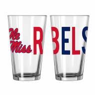 Mississippi Rebels 16 oz. Overtime Pint Glass