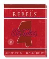 """Mississippi Rebels 16"""" x 20"""" Coordinates Canvas Print"""