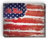 "Mississippi Rebels 16"" x 20"" Flag Canvas Print"