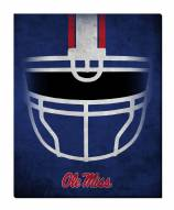 "Mississippi Rebels 16"" x 20"" Ghost Helmet Canvas Print"