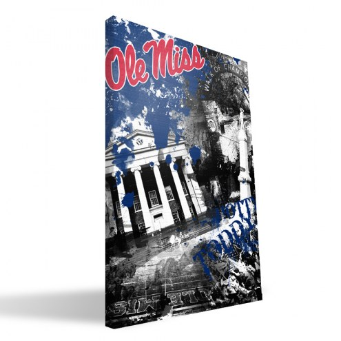 "Mississippi Rebels 16"" x 24"" Spirit Canvas Print"