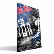 "Mississippi Rebels 16"" x 24"" Spirit Canvas Print"
