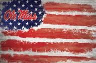 """Mississippi Rebels 17"""" x 26"""" Flag Sign"""