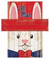 "Mississippi Rebels 19"" x 16"" Easter Bunny Head"