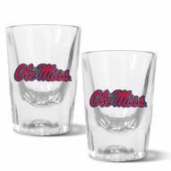 Mississippi Rebels 2 oz. Prism Shot Glass Set