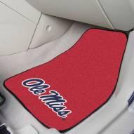 Mississippi Rebels 2-Piece Carpet Car Mats