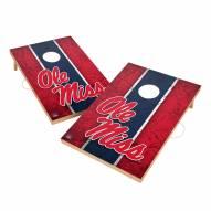 Mississippi Rebels 2' x 3' Vintage Wood Cornhole Game